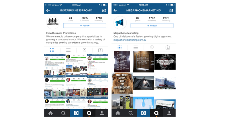 Connect business through website link to increase traffic with Instagram