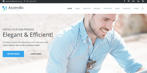 Wordpress themes Ascendio
